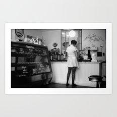 Bakery Girl Art Print