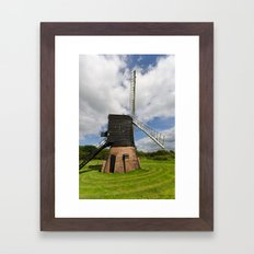 Post mill windmill Framed Art Print