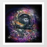deep space monkey Art Print