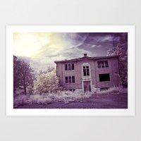 Old Edmonton High School | Infrared in Purple Art Print