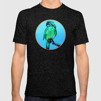 Kakariki - The NZ Red-Cr… Mens Fitted Tee Tri-Black SMALL