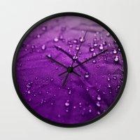 Water Drops! Wall Clock