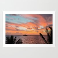 Art Print featuring ISLAND SUNRISE by Catspaws