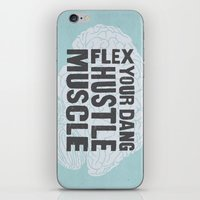 Flex Your Dang Hustle Muscle iPhone & iPod Skin