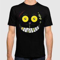 Smilezz / Cheshire Cat Mens Fitted Tee Black SMALL