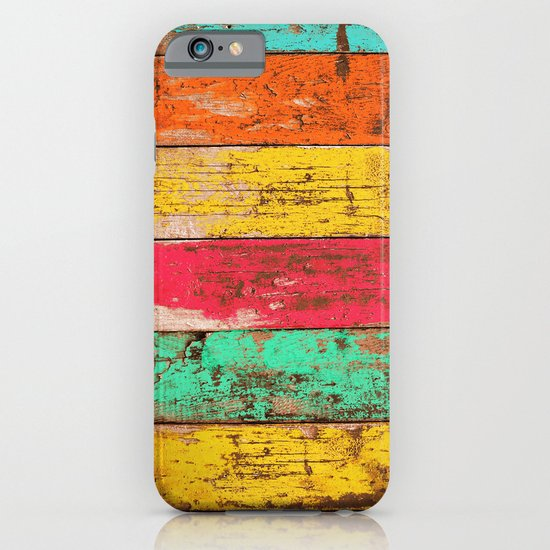 Vintage Colored Wood 3 iPhone & iPod Case