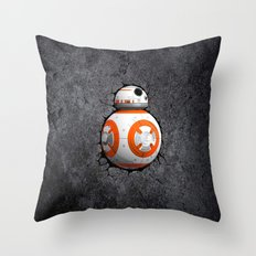 BB8 Cute Droid Throw Pillow