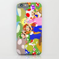 iPhone & iPod Case featuring Mario & friends by christopher-james robert warrington