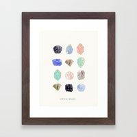 Iridescent Stones Framed Art Print