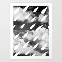 Storm Clouds + Droplets Art Print