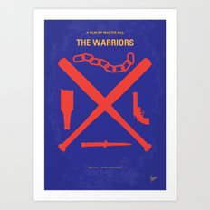 No403 My The Warriors minimal movie poster Art Print