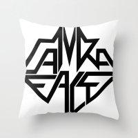 CamRaFace Logo White for T-Shirts Throw Pillow