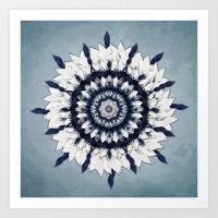 Blue Sash Mandala Art Print