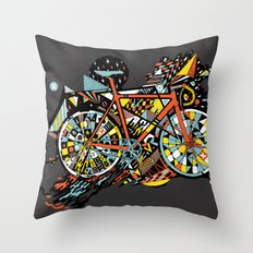 FIX TRIP ~ BLACK Throw Pillow