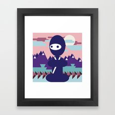 teenja ninja  Framed Art Print