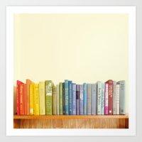 Rainbow Library Art Print