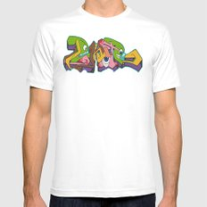 Monsters SMALL Mens Fitted Tee White