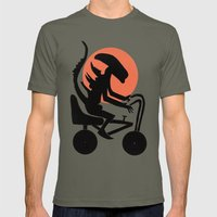 Alien On A Chopper Mens Fitted Tee Lieutenant SMALL