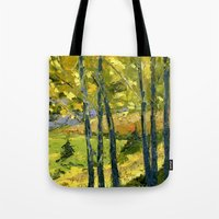 Backlit Aspens Tote Bag