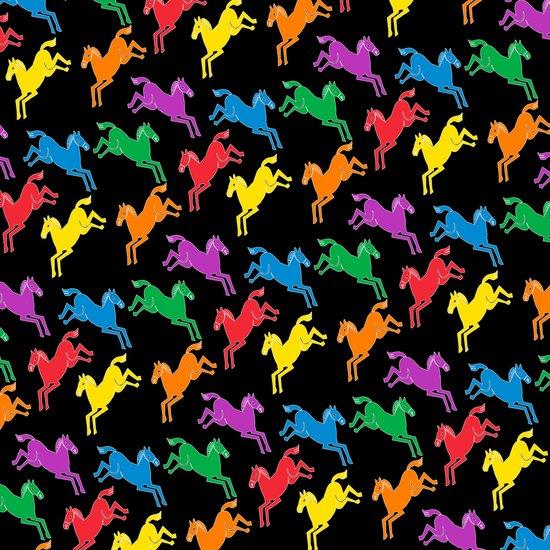 Prancing Pony Multi Mix Art Print