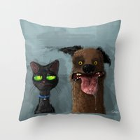 Cat is not impressed Throw Pillow