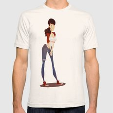 Gary Mens Fitted Tee Natural SMALL