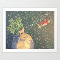 To the stars Art Print