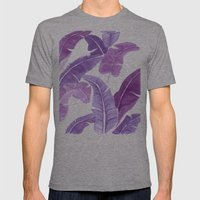 Purple Palms Mens Fitted Tee Athletic Grey SMALL