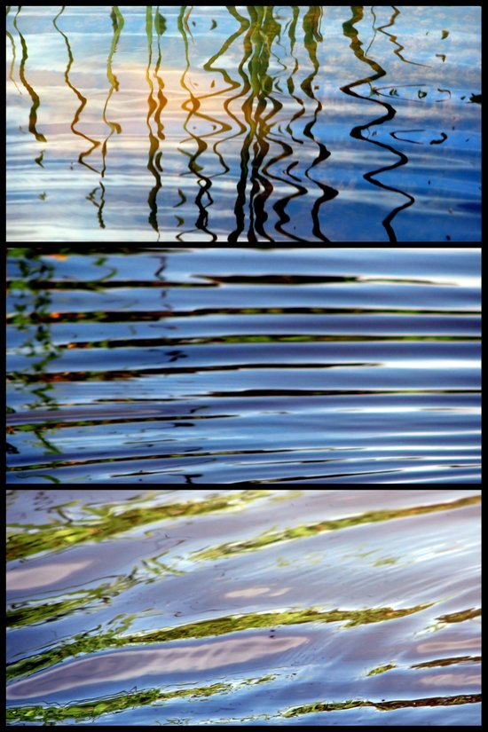 Three Minutes in the Ripple of Time - Triptych Art Print