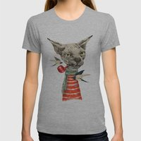 Sphynx Cat Womens Fitted Tee Athletic Grey SMALL