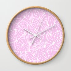 Ab Fan Pink Wall Clock