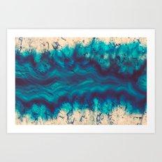 Blue Agate River of Earth Art Print