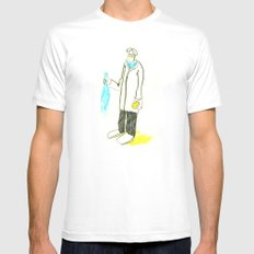 Pez y naranja White SMALL Mens Fitted Tee