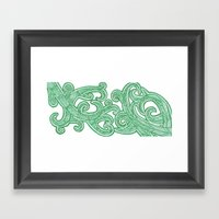 weeds Framed Art Print