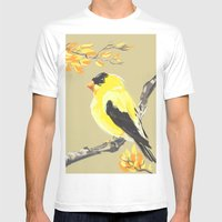 Yellow Finch Mens Fitted Tee White SMALL