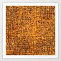 Yellow wooden textured background Art Print