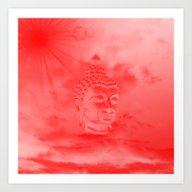 Buddha In Colored Clouds… Art Print