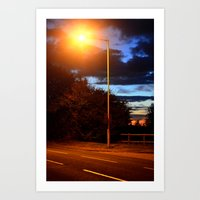 Manmade And Nature. Art Print