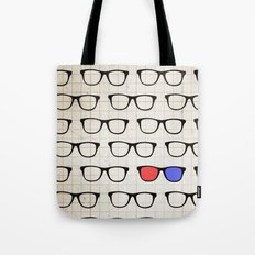 3D Hipster Tote Bag