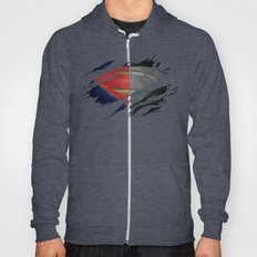 Man of Steel Ripped Symbol Hoody