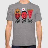 RZA, GZA, PIZZA Mens Fitted Tee Tri-Grey SMALL