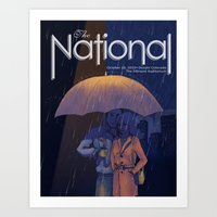 The National Band Poster Art Print