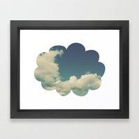 Puffy Cloud Framed Art Print