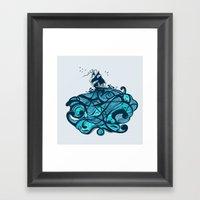 Upon The Sea Framed Art Print