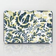 Blue Flowers Pattern iPad Case
