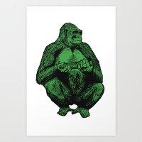 Big Green Ape Art Print