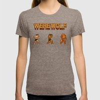 Unleash the beast- werewolf tribute Womens Fitted Tee Tri-Coffee SMALL