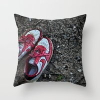 Literally Stepping Out Throw Pillow