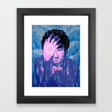 Like tears in the rain Framed Art Print