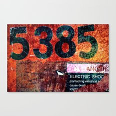 Rusty Numbers Canvas Print